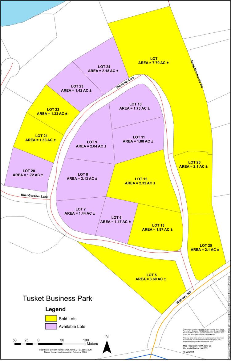 carte du terrain